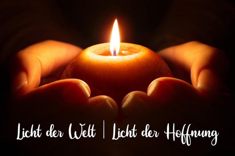 Ein Licht der Hoffnung entzünden